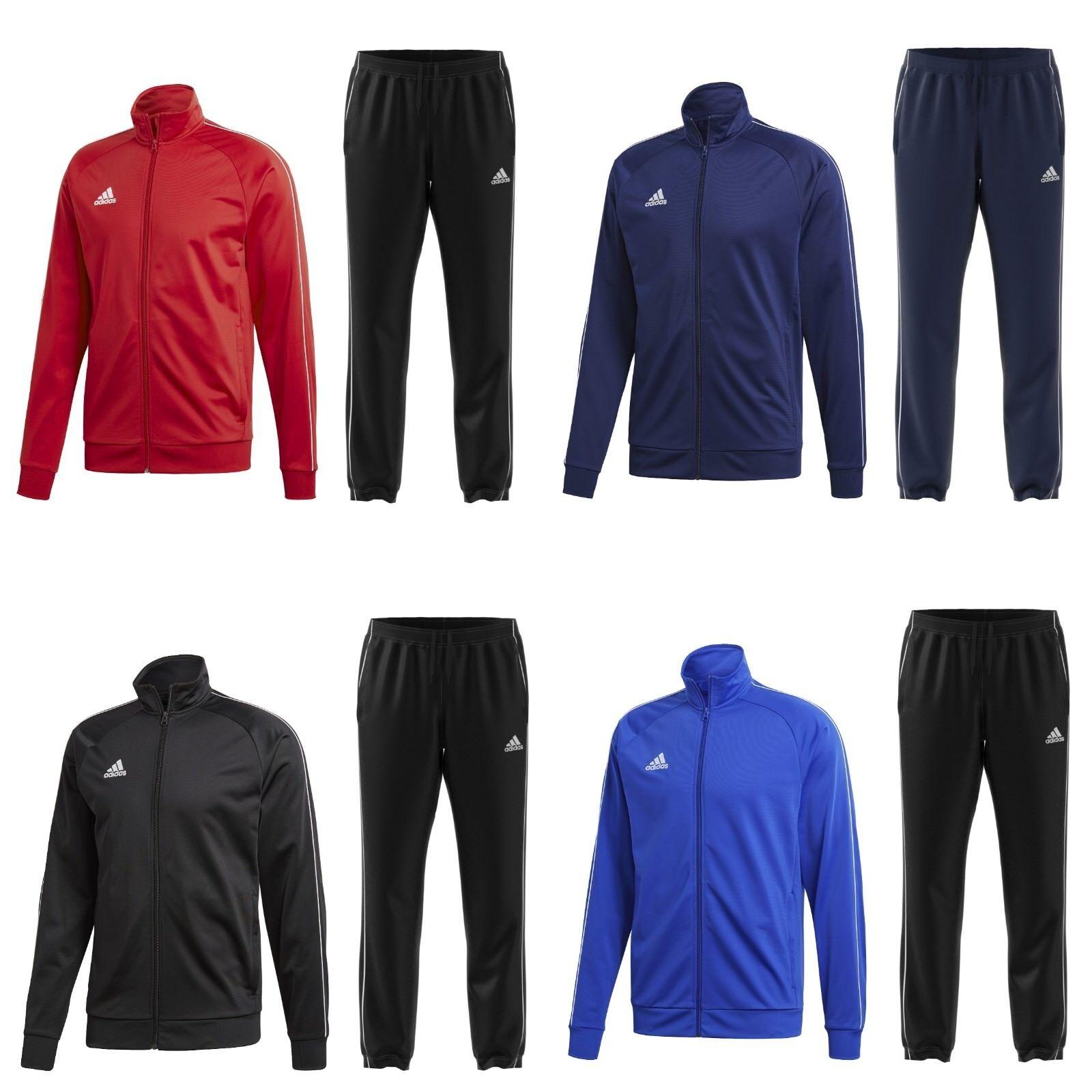 30bdd9be0634ef adidas Jogging Anzug Sportanzug Trainingsanzug Jogginganzug Herren Männer  Rot
