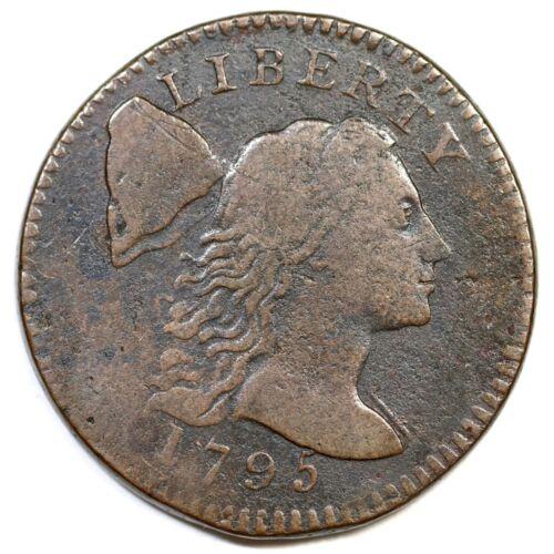 1795 S-77 R-3 Plain Edge Liberty Cap Large Cent Coin 1c
