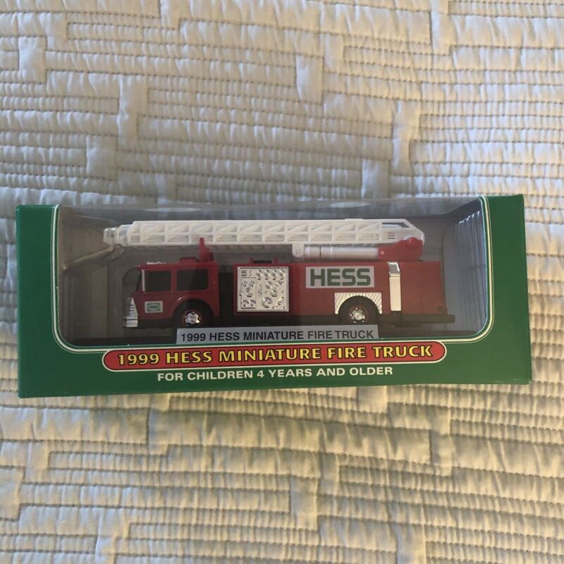 1999  Hess Miniature Fire Truck - New in Box - Hess Mini Truck