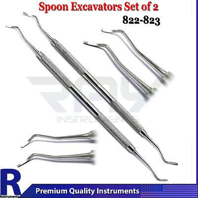 Dental Spoon Excavator Set Of 2 Restorative Tooth Cavity Surgery Instruments Ce