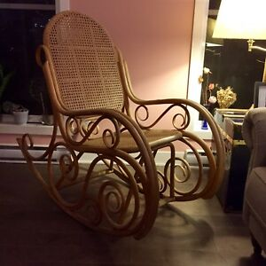 Bamboo rattan rocking chair