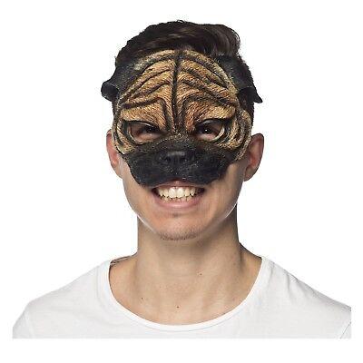 Adult Men In Black Frank Pug Puppy Dog Animal Halloween Costume Foam Eye Mask ](Men In Black Halloween Costumes)