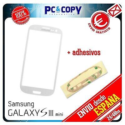 S183 CRISTAL DE PANTALLA TACTIL + ADHESIVOS PARA SAMSUNG GALAXY S3 Mini...