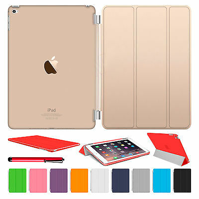 Ipad Mini Case - Magnetic Slim Leather Smart Cover Hard Back Case For Apple iPad Air 2 3 4 mini
