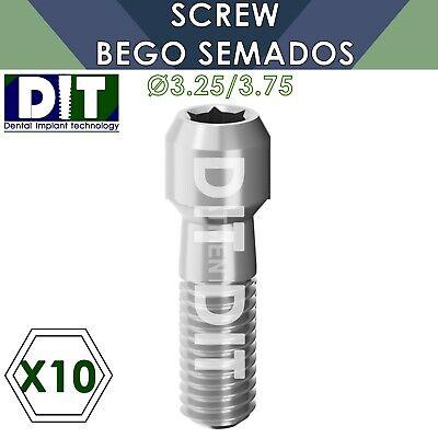 10 X Dental Screw Compatible Bego Semados 3.25 3.75mm Dental Implants