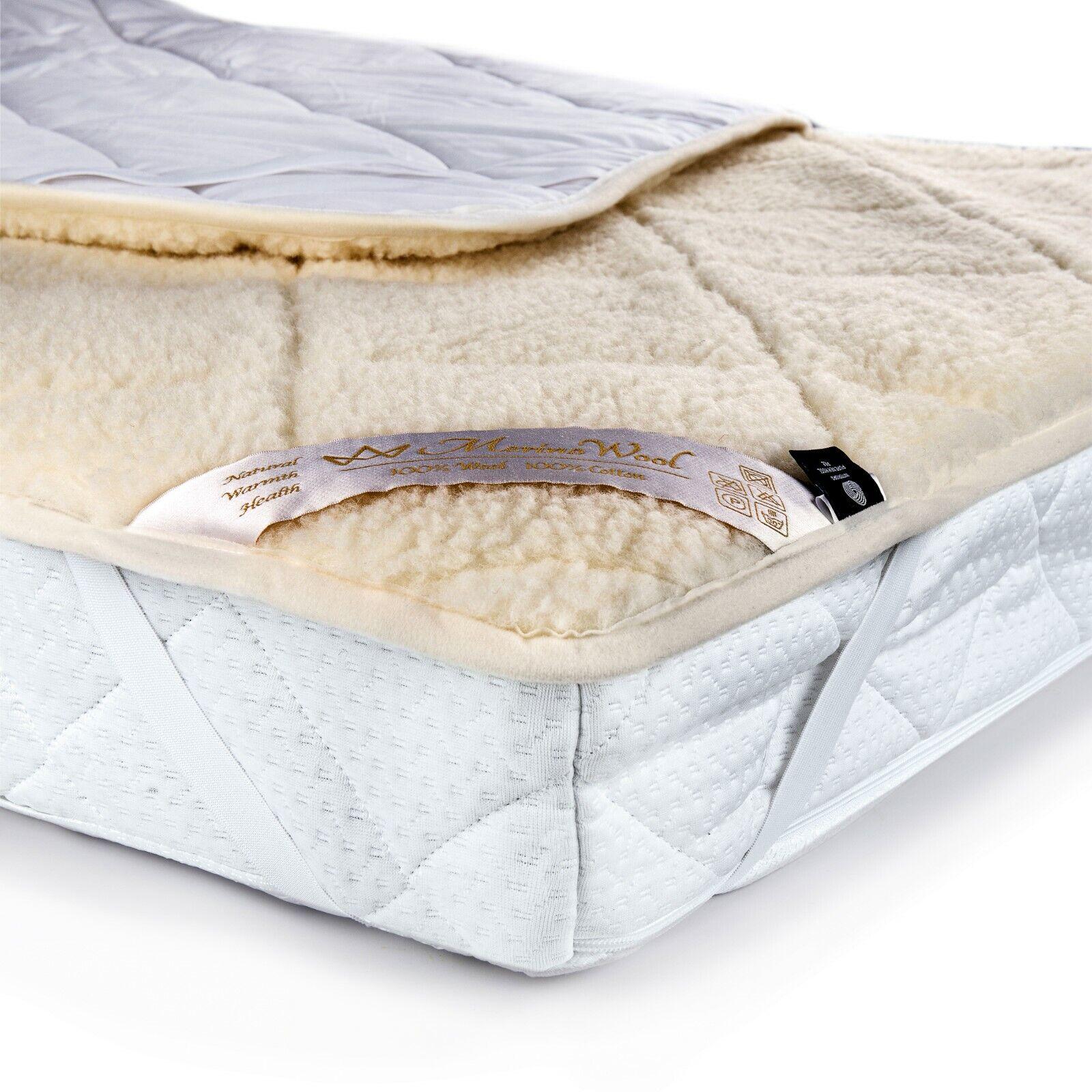 Merino Wool Underblanket 100 Natural Medical Mattress Topper Bed Corner Straps Ebay