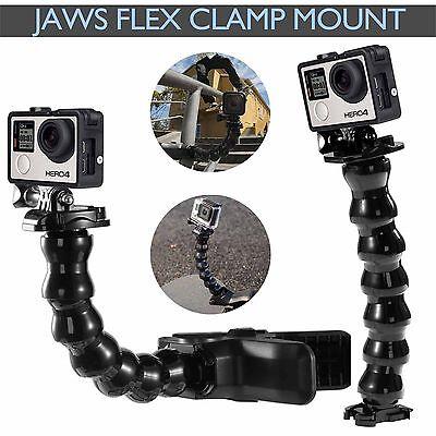 Jaws Flex Clamp Mount Clip Accessories Adjustable Neck Gopro Hero 5 4 3+ Go Pro