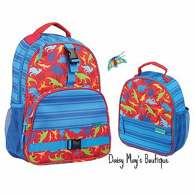Stephen Joseph Boys Dinosaur Backpack and Lunch Box with Charm - School Bags  (Boys Backpack And Lunchbox)