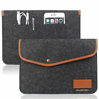 12' Envelope Laptop Sleeve - 12 Inch New MacBook Sleeve Carrying Case Pouch Laptop Bag Envelope Card Slot