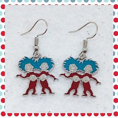 Dr. Seuss Inspired Thing 1 And Thing 2 Earrings - Thing1 And Thing2