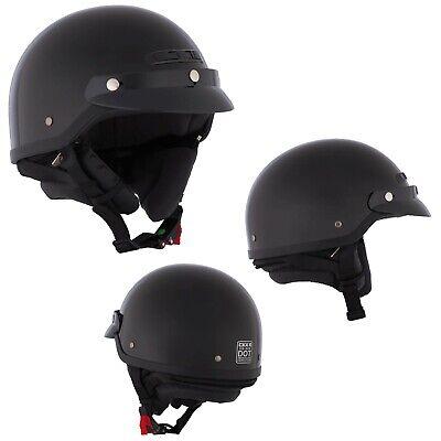 Motorcycle Half Helmet Open Face Black 4XLarge CKX VG-500 DOT BEST