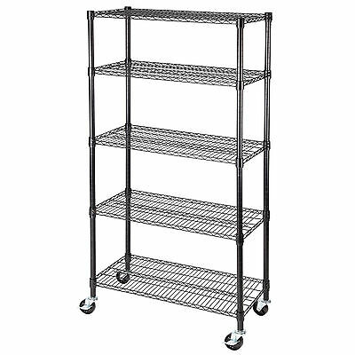 "60""x30""x14"" Heavy Duty 5 Tier Layer Wire Shelving Rack Adjustable Steel Shelf"