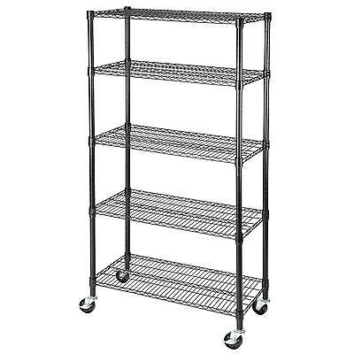 60x30x14 Heavy Duty 5 Tier Layer Wire Shelving Rack Adjustable Steel Shelf