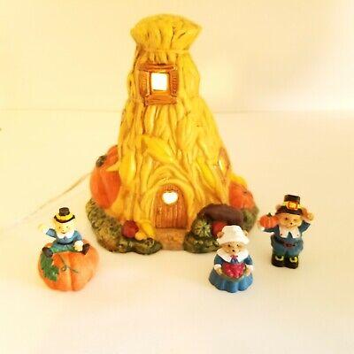 Vintage Ceramic Thanksgiving Night Light Autumn Fall Decor Pumpkin Stem Shape
