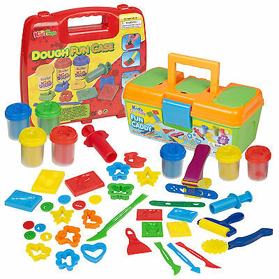 17 & 29 Piece Play Dough Craft Gift Set Tubs & Shapes Children Toys Xmas Shapers