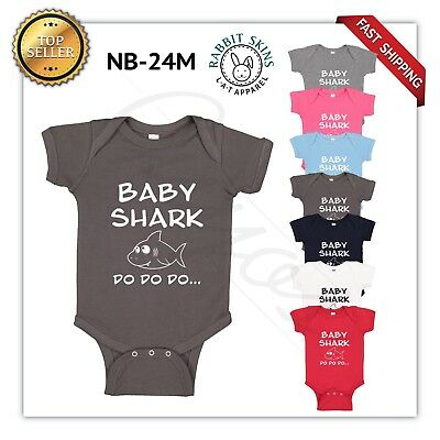 Rabbit Skins Baby Clothes - baby shark Baby Boy Girl Toddler Jumpsuit Bodysuit Clothes Outfit 0-24M NEW