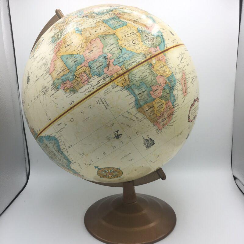 Vintage Replogle 12 Inch Diameter Globe World Classic Series