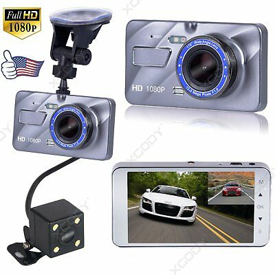 HD 1080P Dual Lens Car DVR Dash Cam Video Recorder Camera G-sensor Night Vision
