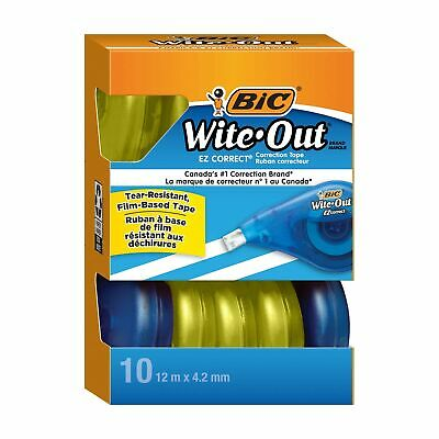 Bic Wite-out Brand Ez Correct Correction Tape White 10-count 10 Count