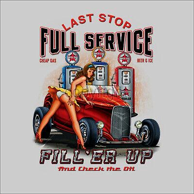Hot Rod Garage (Retro Hot Rod vintage american Garage Car Auto PinUp Werkstatt T-Shirt *1067 bl)
