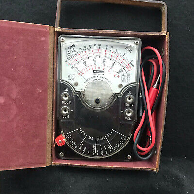 Vintage Midland 23-104 Multimeter In Original Leather Case Wleads Great Shape