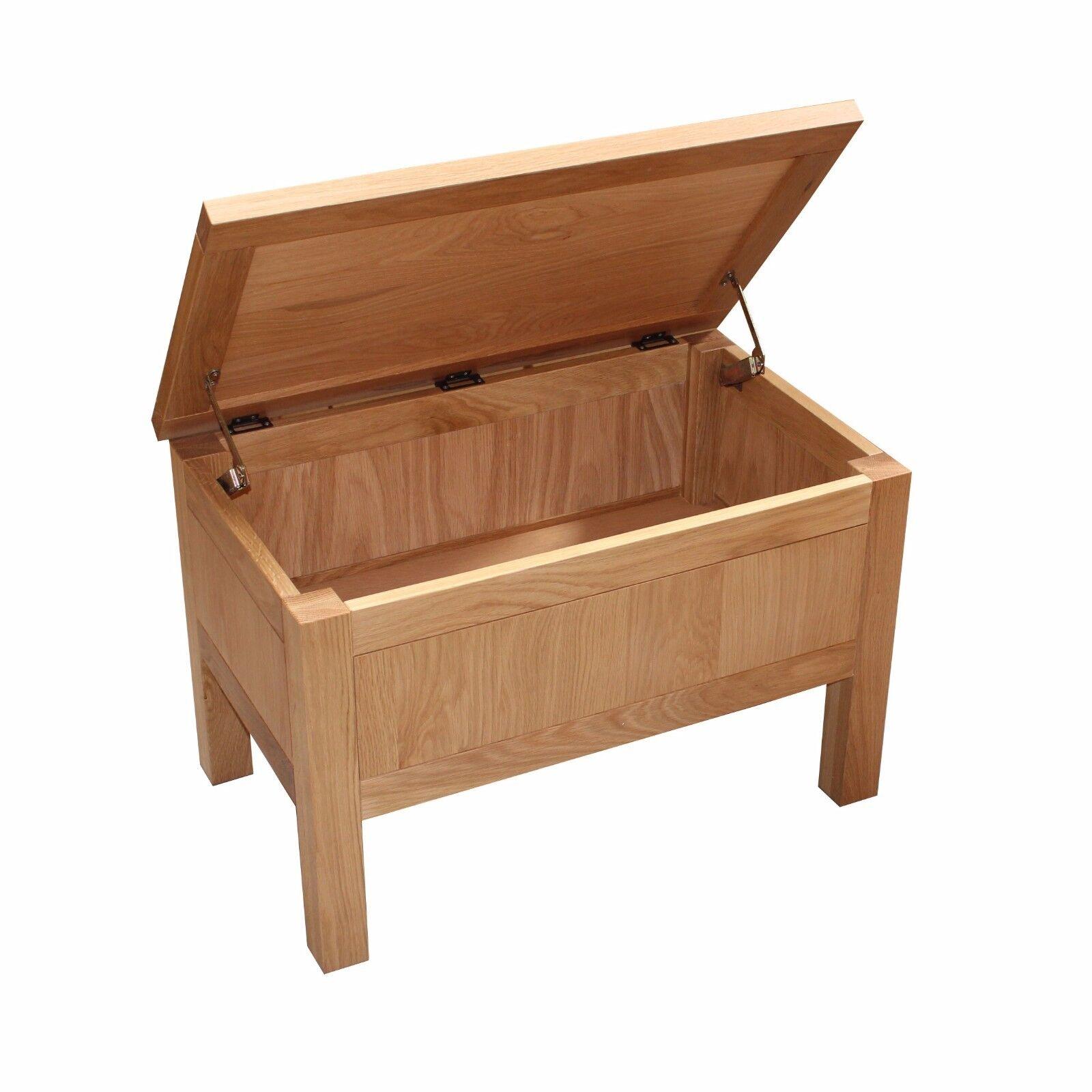 Coffee Table With Storage Ebay: Oak Storage Box Coffee Table Toy Box Blanket Box