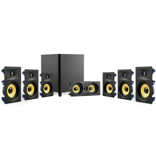 """TDX 7.1 Surround Sound Home Theater System, 8"""" In-Wall Speakers, 12"""" Subwoofer"""