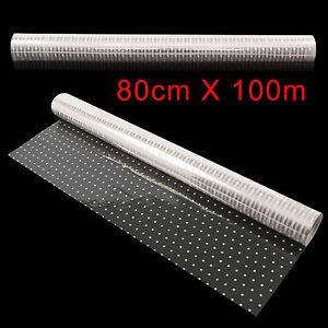 100m X80cm Thick White Dot Cellophane Roll Florist Film Plain Wrap Gift Hamper
