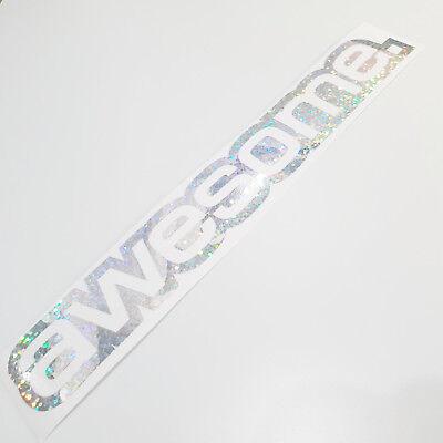 Awesome Aufkleber (Awesome Auto Aufkleber Tuning silber metallic Effekt Hologramm Oilslick Shocker)