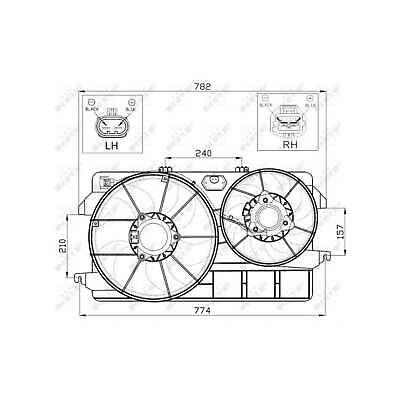 Genuine NRF Engine Cooling Radiator Fan - 47450