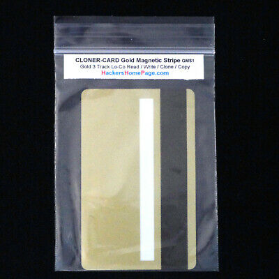 Gold Magnetic Stripe Cards Credit Card Id Type Clone Copy Read Write