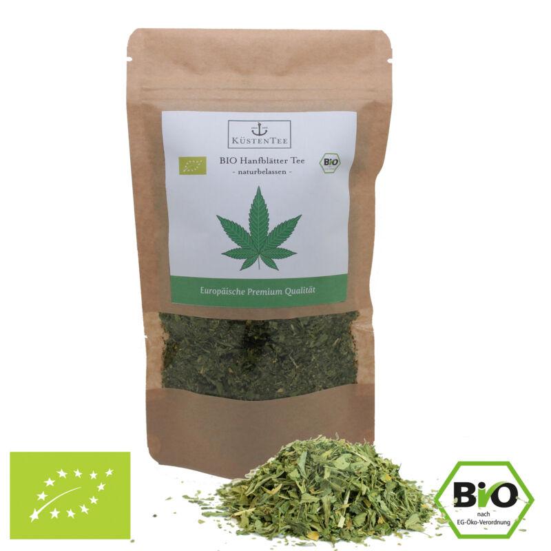 *BIO CBD Hanftee 50g – Qualität Österreich Hanfblätter + Blüten Tee Cannabis*