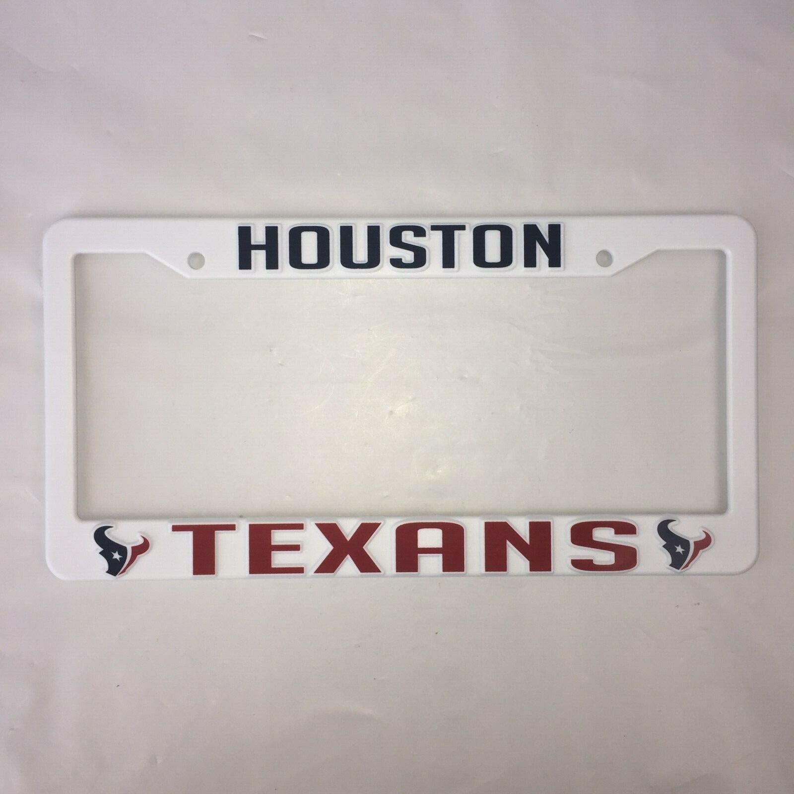 HOUSTON TEXANS NFL PLASTIC LICENSE PLATE FRAME AUTO CAR TRUC