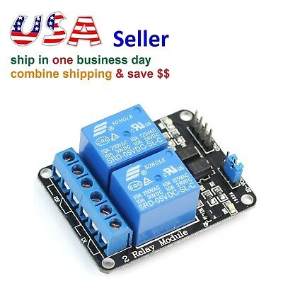 2 Channel Relay Module 5v Control 250v10a With Optocoupler For Arduino