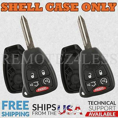 2 for 2008 2009 2010 2011 2012 Jeep Liberty Remote Shell Case Key Fob Cover 5bn