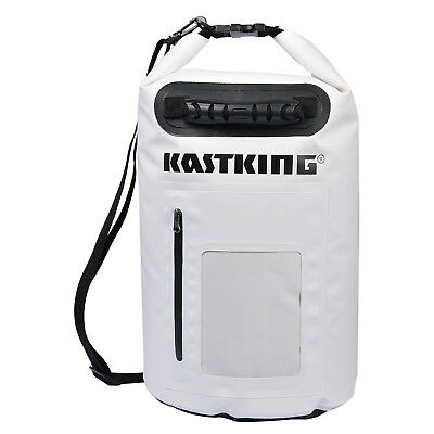 KastKing 30L Dry Bag Waterproof Roll Top Type Duffel Bag with Grab Handle(White)