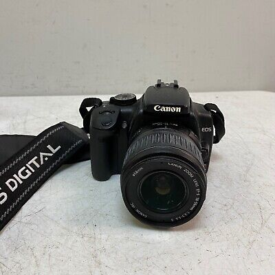 Canon Rebel XTi DSLR Camera with EF-S 18-55mm STM Lens Black NO BATTERY/CHARGER