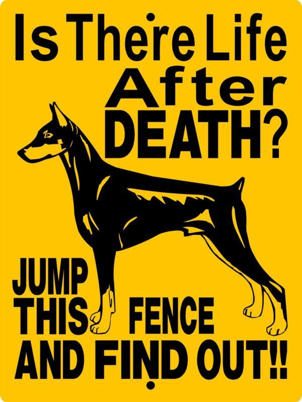 DOBERMAN PINSCHER  ALUMINUM SIGN VINYL DECAL DOG WARNING  2197A
