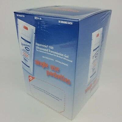 Parker Aquasonic 100 Ultrasound Transmission Gel 20gr 100 Single Use Packettes