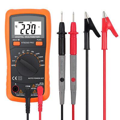 Digital Lcd Multimeter Auto Range Ammeter Acdc Voltage Ohmmeter Tester Meter Us
