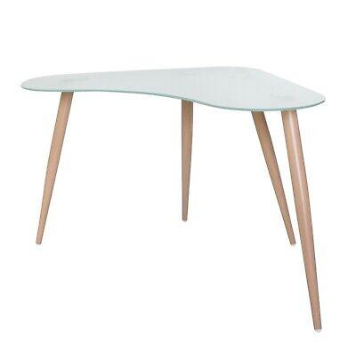 Mesa escritorio Polaris cristal translucido oficina moderno mueble 74x120x60 cm