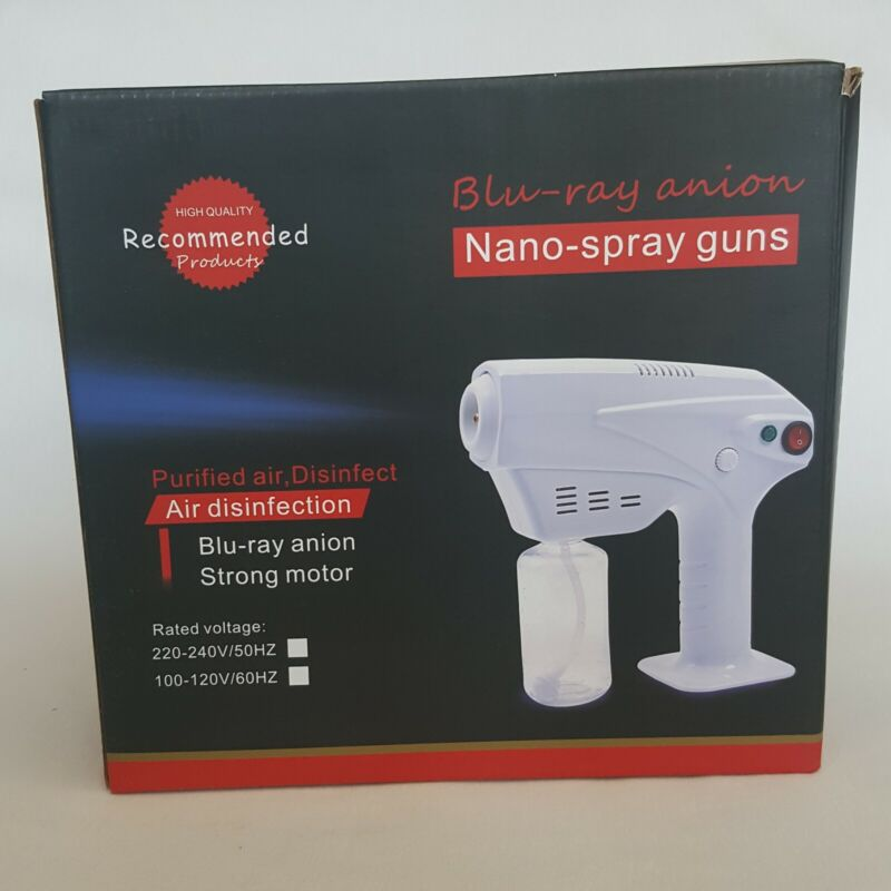Blu-Ray Anion Nano-Spray Gun, Corded Sterilizer Disinfectant