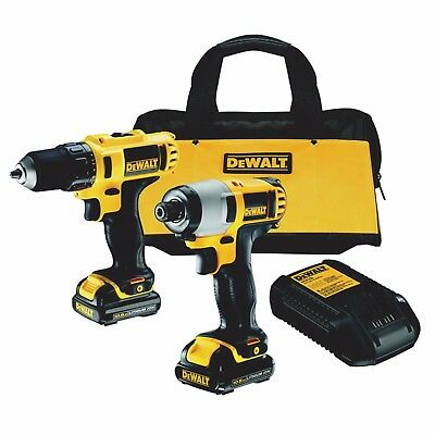 DEWALT DCK211C2 10.8v Li-ion Cordless 2 Piece Pack