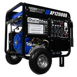 duromax xp12000e 12000 watt portable gas electric start generator home standby