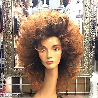 ELITE BRAND WIGS ON SALE! 80s FARRAH STYLE! MID LENGTH TEASED PERFECTION QUALITY - Wigs 80s Style