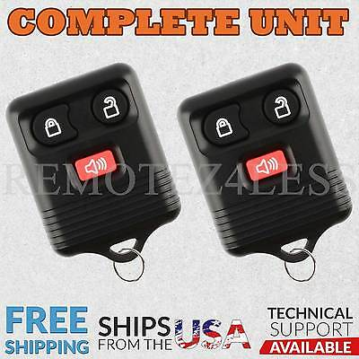 2 For 1999 2000 2001 2002 2003 2004 2005 2006 2007 Ford F-150 Remote Car Key Fob