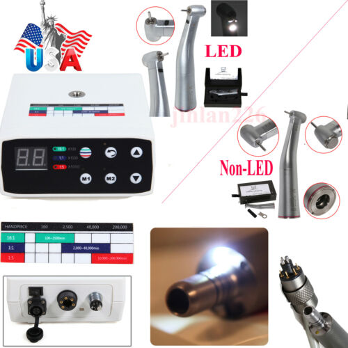Dental Brushless Electric Micro Motor/1:5 increasing (LED) Handpiece Fit NSK USA