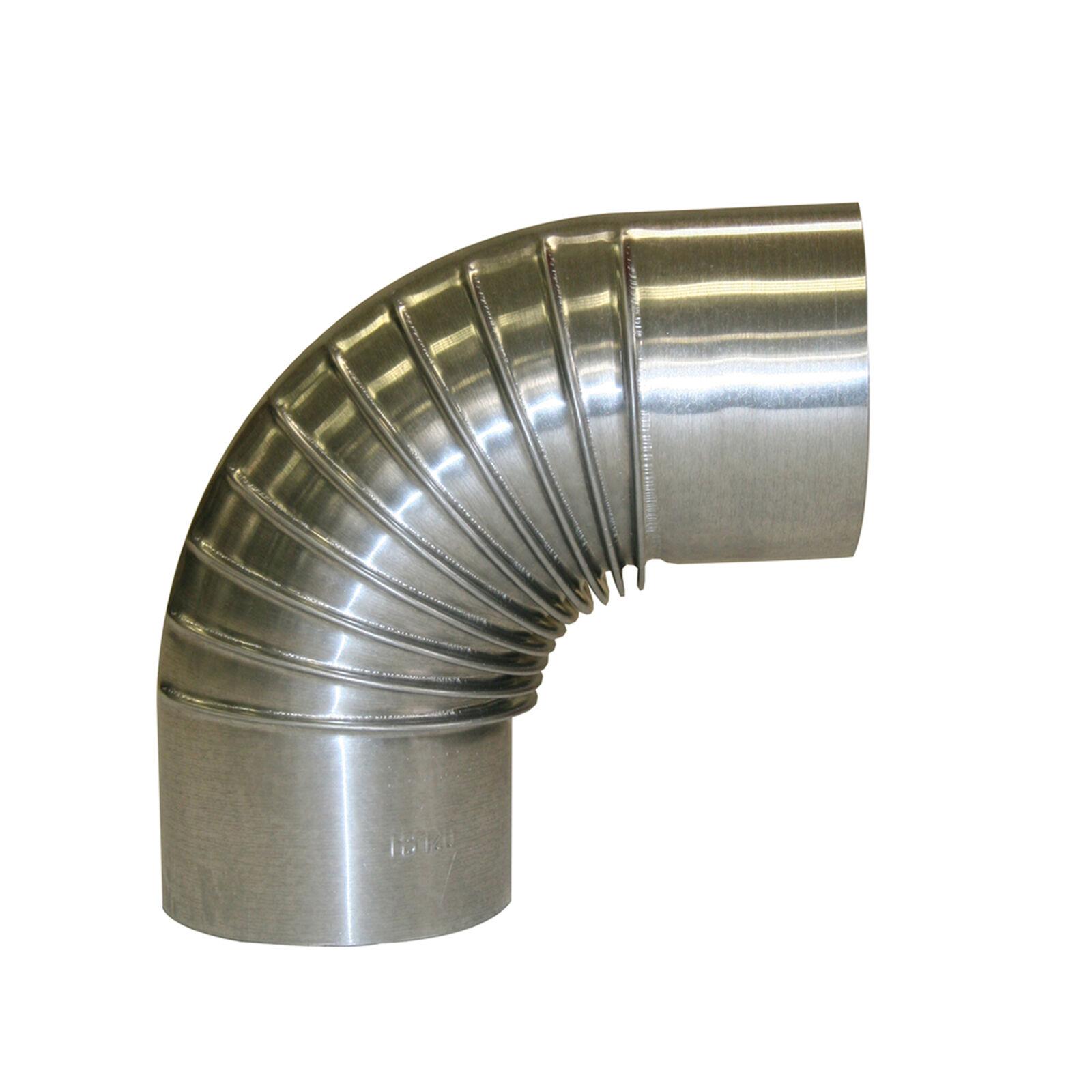 FAL Bogenknie 150 mm ohne Tür 90° Pelletrohr Ofenrohr Kaminrohr Abzugsrohr