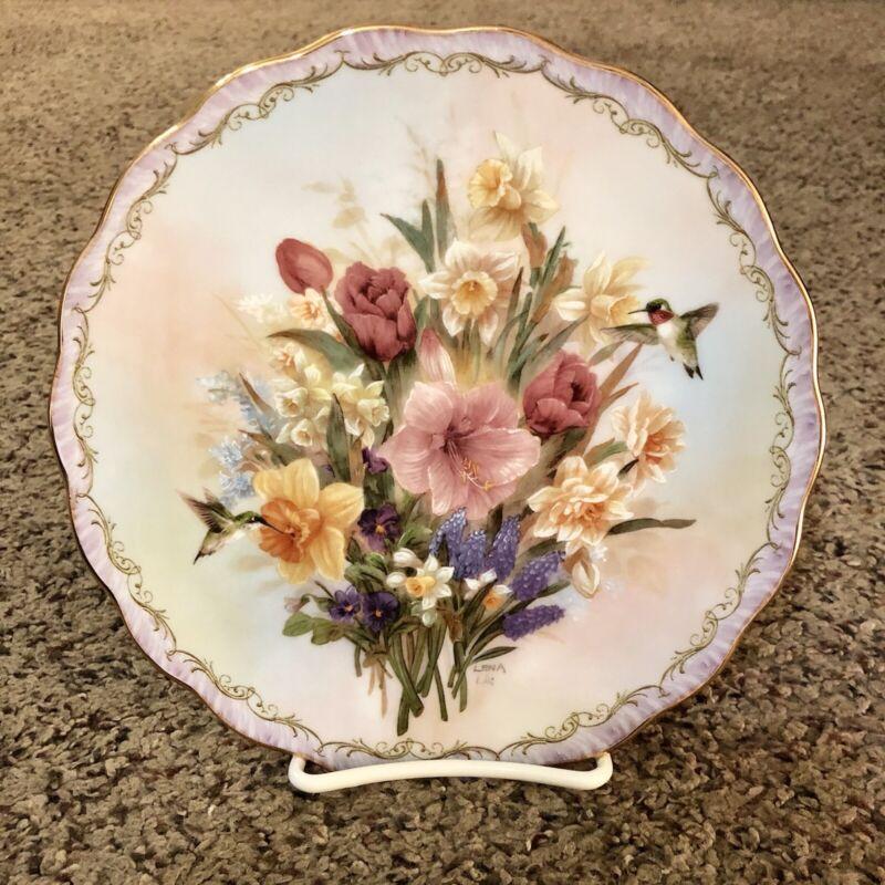 Lena Liu Cherished Garden Decorative Plate w/ stand