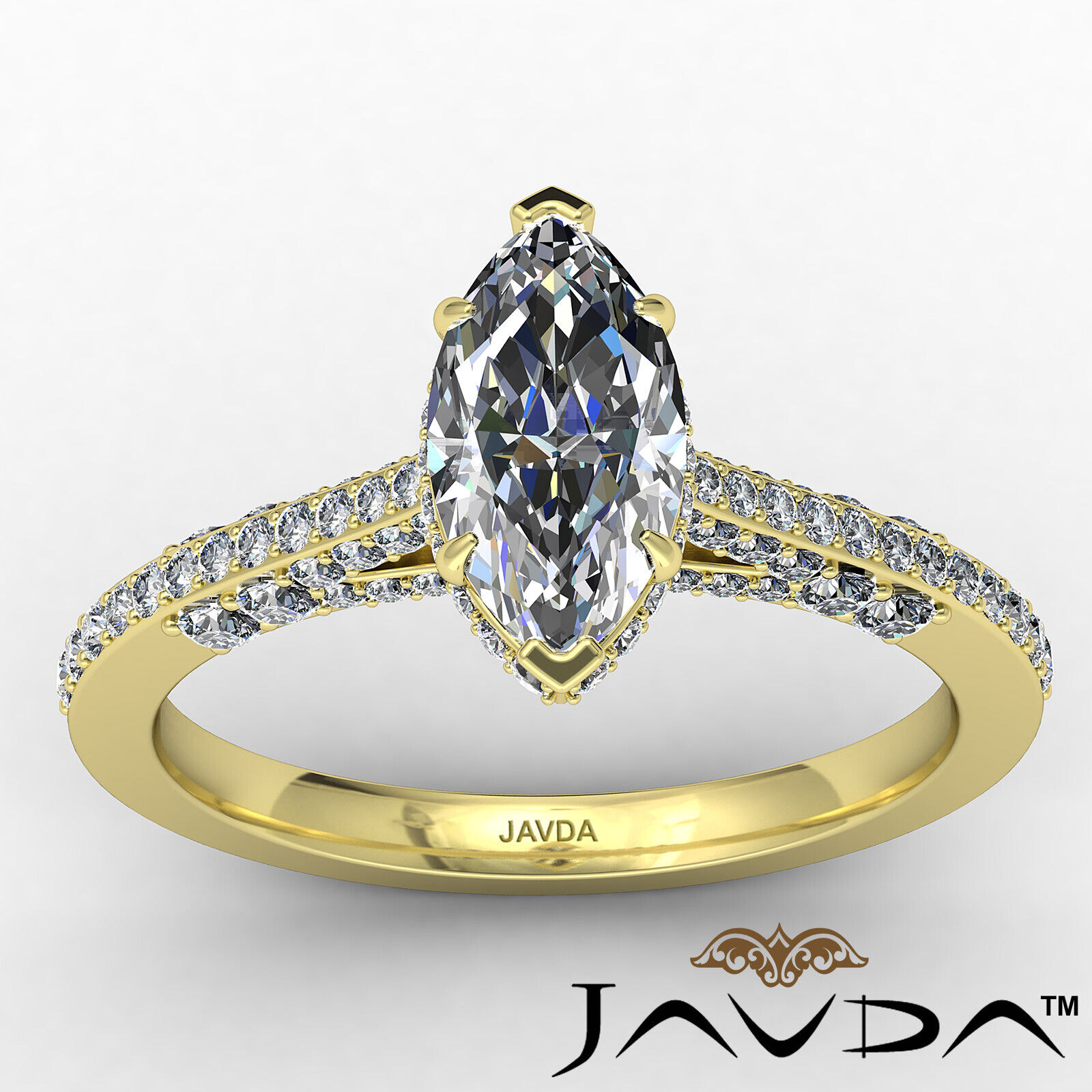 Circa Halo Marquise Diamond Engagement Ring GIA G Color & VVS2 clarity 1.1 ctw 10